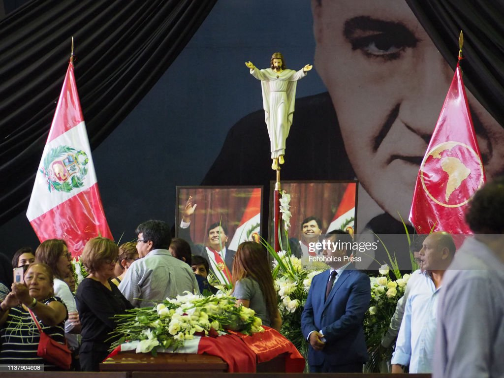 "Funeral of former Peruvian president Alan Garcia Perez at ""... : News Photo"