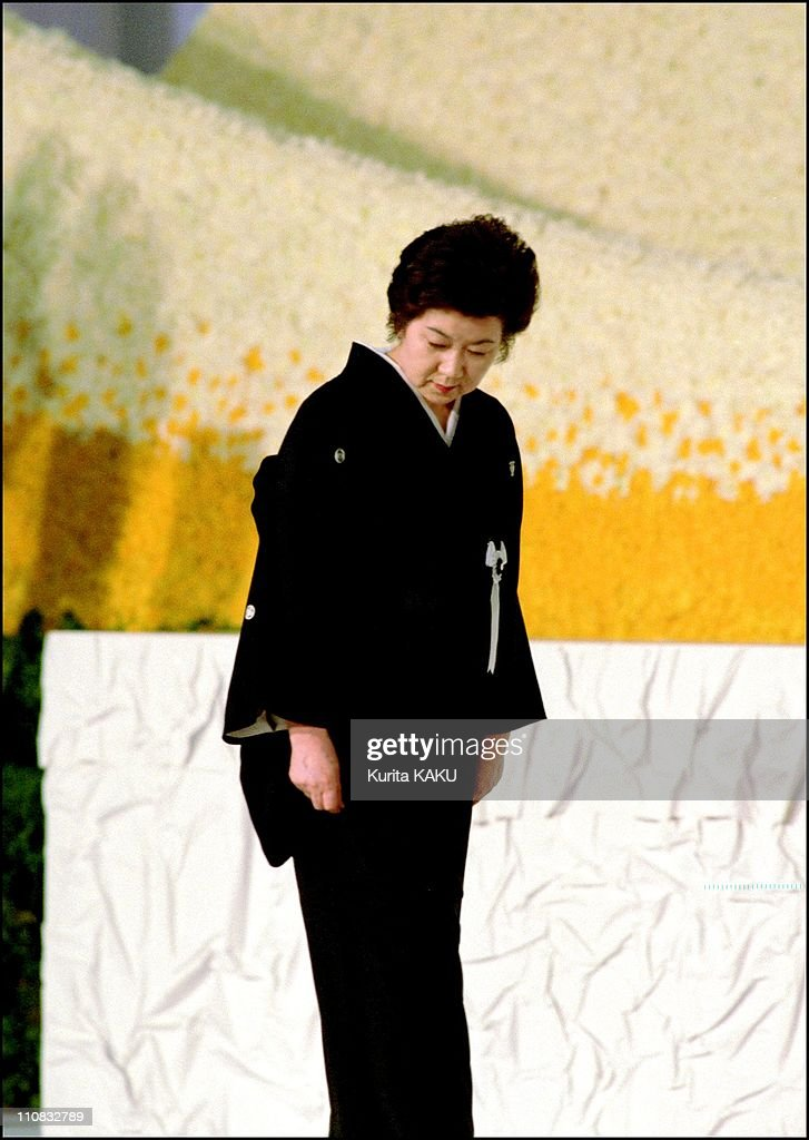 Funeral Of Former Prime Minister Keizo Obuchi Who Died May 14Th At The Age Of 62 In Tokyo, Japan On June 08, 2000 - Chizuko Obuchi, wife of former pm Obuchi.