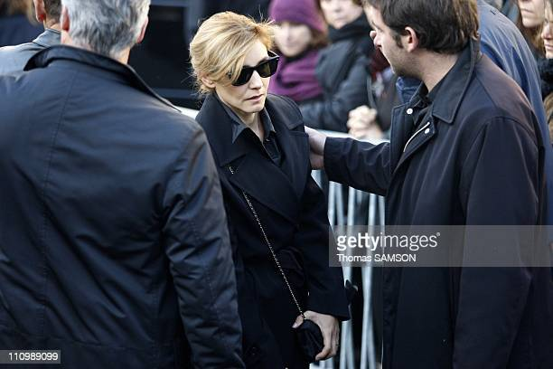Funeral of French actor Guillaume Depardieu, at Notre Dame Church of Bougival, near Paris in Bougival, France on October 17th, 2008 - Clotilde Courau.
