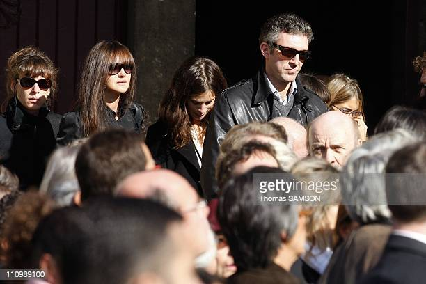Funeral of French actor Guillaume Depardieu, at Notre Dame Church of Bougival, near Paris in Bougival, France on October 17th, 2008 - Monica Bellucci...