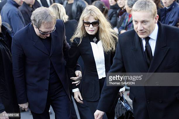 Funeral of French actor Guillaume Depardieu, at Notre Dame Church of Bougival, near Paris in Bougival, France on October 17th, 2008 - Arielle...