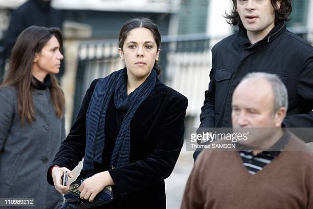 Funeral of French actor Guillaume Depardieu, at Notre Dame Church of Bougival, near Paris in Bougival, France on October 17th, 2008 - Alyson Paradis...