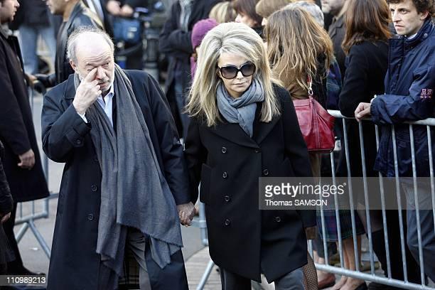 Funeral of French actor Guillaume Depardieu, at Notre Dame Church of Bougival, near Paris in Bougival, France on October 17th, 2008 - Claude Berri...