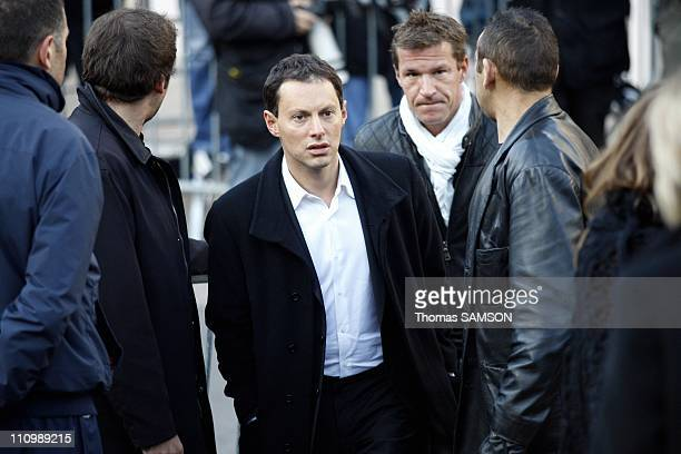 Funeral of French actor Guillaume Depardieu, at Notre Dame Church of Bougival, near Paris in Bougival, France on October 17th, 2008 - Marc-Olivier...