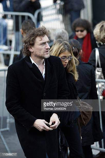 Funeral of French actor Guillaume Depardieu, at Notre Dame Church of Bougival, near Paris in Bougival, France on October 17th, 2008 - Jean-Paul Rouve...