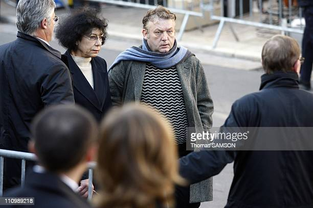 Funeral of French actor Guillaume Depardieu, at Notre Dame Church of Bougival, near Paris in Bougival, France on October 17th, 2008 - Dominique...