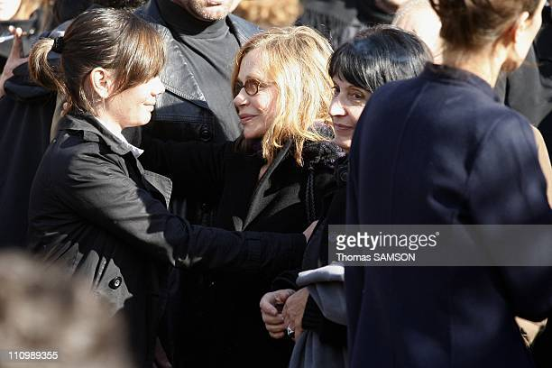 Funeral of French actor Guillaume Depardieu at Notre Dame Church of Bougival near Paris in Bougival France on October 17th 2008 Elisabeth Depardieu