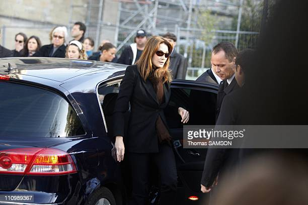 Funeral of French actor Guillaume Depardieu, at Notre Dame Church of Bougival, near Paris in Bougival, France on October 17th, 2008 - Carla...