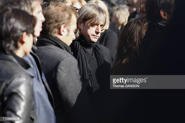 Funeral of French actor Guillaume Depardieu, at Notre Dame Church of Bougival, near Paris in Bougival, France on October 17th, 2008 - Jean-Louis...