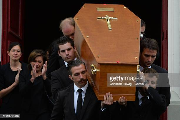 funeral of French journalist of France 2 Benoit Duquesne at the Church Jeanne d'Arc in Versailles