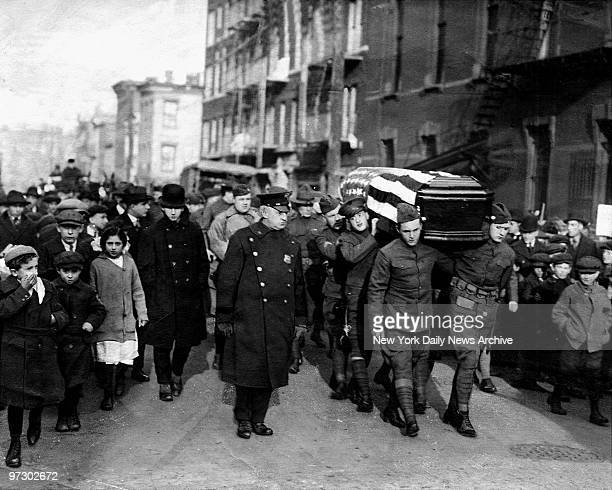 Funeral of gangster Monk Eastman
