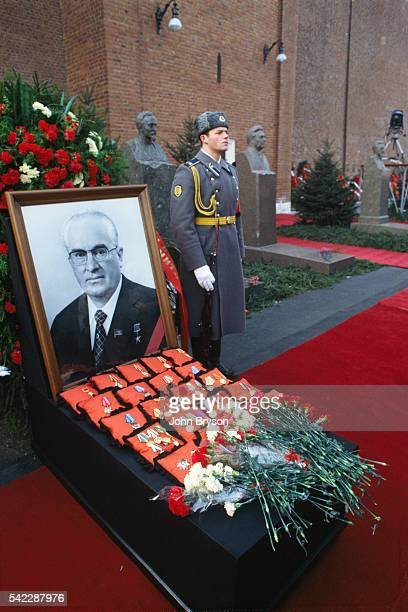 Funeral of General Secretary of the Communist Party of the Soviet Union Yuri Andropov at Lenin's Mausoleum
