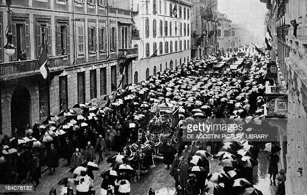 Funeral of Giacomo Puccini at Milan December 3 1924
