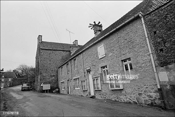 Funeral of Jacques Prevert in Omonville-la-Petite in France on April 13th, 1977 - Jacques Prevert retired to this village, hamlet in the Val - He...