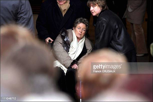 Funeral of Jacques Villeret in Loches, France on February 03rd 2005 - Marie Dubois.