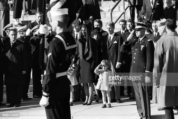 Funeral of John Fitzgerald Kennedy 35th President of the United States in 1963