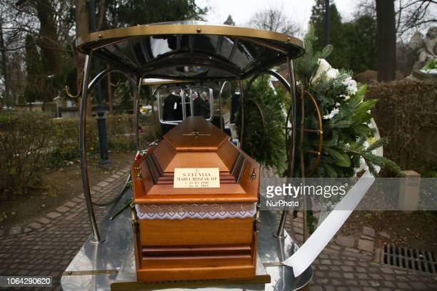 Funeral of late Sister Cecylia Roszak at Rakowicki Cemetery in Krakow Poland on 22 November 2018 Cecylia Roszak who risked her life by hiding Jews...