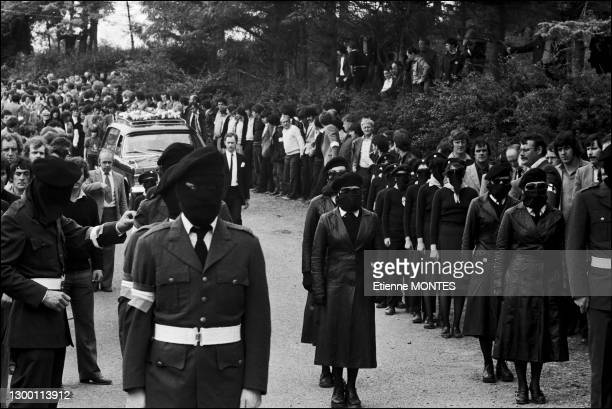 Funeral of Martin Hurson who was sentenced in September 1979 to 25 years in jail. He was part of the blanket protest and joined the 1981 Irish Hunger...