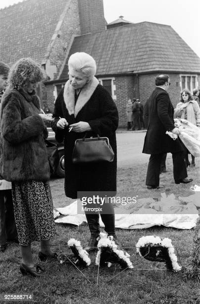 Funeral of Mickey Calvey, who was shot dead by Police after a 10, 000 pound Supermarket Raid, 8th January 1979.