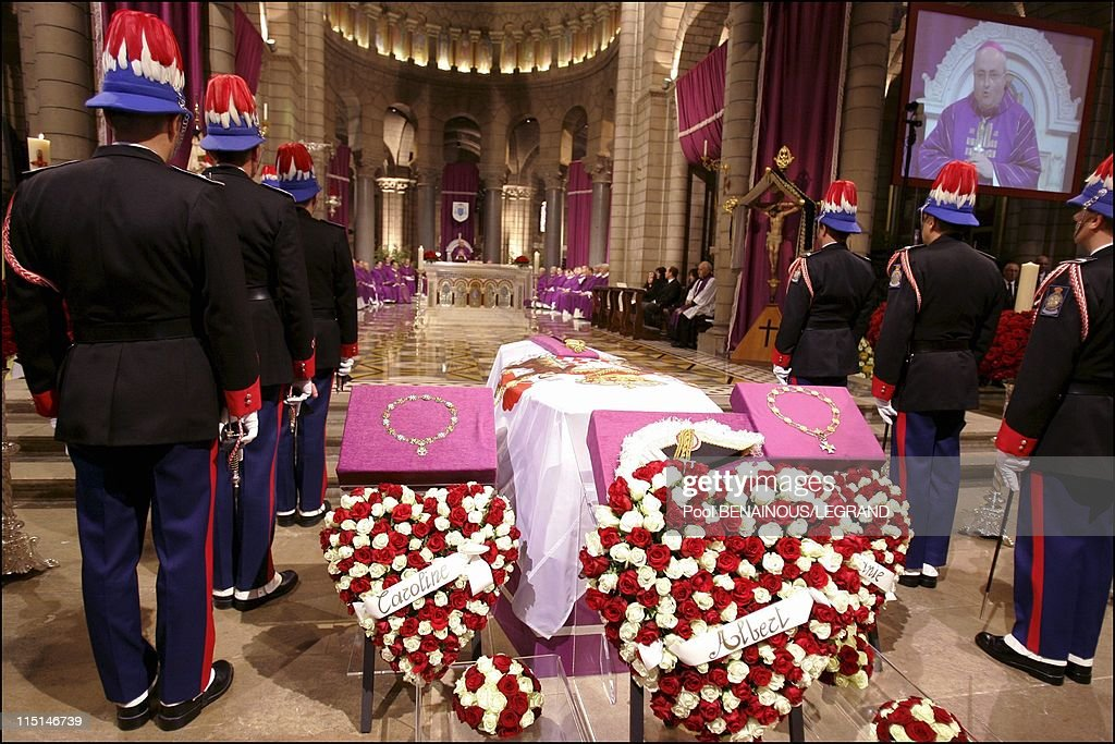 Funeral Of Monaco'S Prince Rainier Iii In Monaco City, Monaco On April 15, 2005. : News Photo