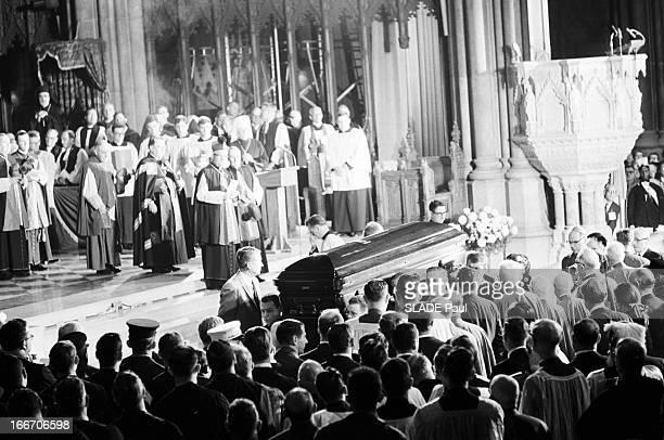 Funeral Of New York Archbishop Francis Joseph Spellman En décembre 1967 Aux EtatsUnis à la cathédrale Saint Patrick durant les obsèques de...