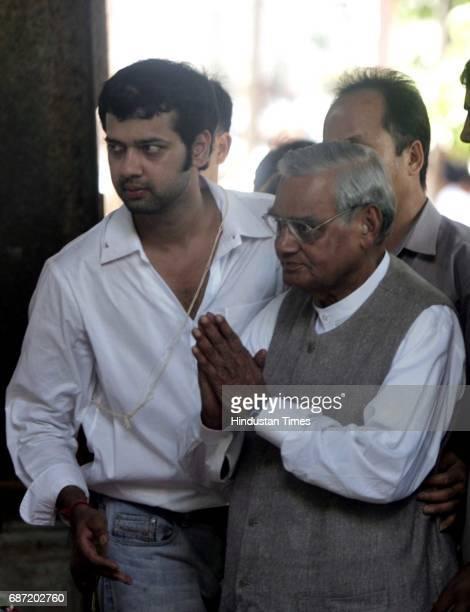 Funeral of Pramod Mahajan Atal Behair Vajpayee and Rahul Mahajan at Shivaji Park crematorium