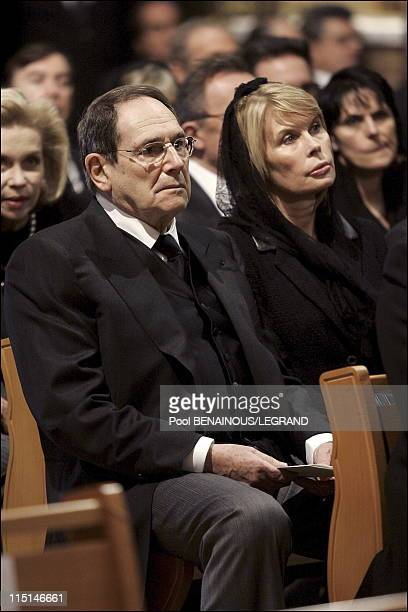 Funeral of Prince Rainier III of Monaco in Monaco City Monaco on April 15 2005 Robert Hossein and Candice Patou