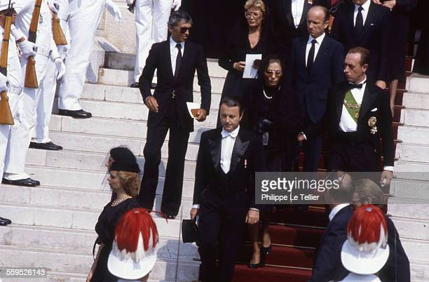 Funeral of Princess Grace of Monaco Cathedral of Monaco the former Empress Farah Diba