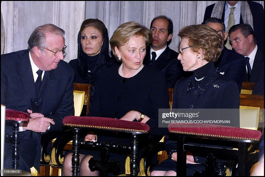 Funeral Of Queen Marie Jose Of Italy In Hautecombe, France On February 02, 2001. : Nachrichtenfoto