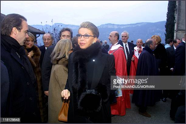 Funeral of Queen Marie Jose of Italy in Hautecombe France on February 02 2001 Marina Doria
