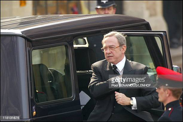 Funeral of Queen Mum in London United Kingdom on April 09 2002 Constantin of Greece