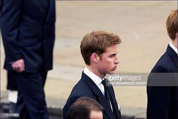 Funeral of Queen Mum in London United Kingdom on April 09 2002 Prince William
