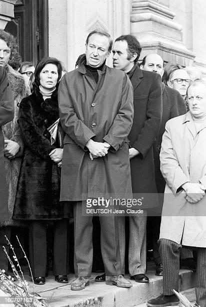 Funeral Of René Simon The Church St Francis Xavier. Paris- 19 février 1971- Les obsèques de René SIMON à l'église Saint-François Xavier. Jacques...