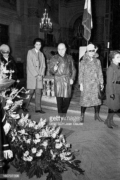Funeral Of René Simon The Church St Francis Xavier. Paris- 19 février 1971- Les obsèques de René SIMON à l'église Saint-François Xavier. Gérard OURY...