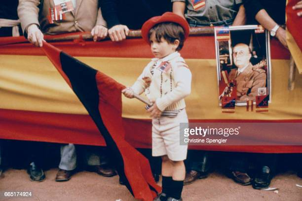 Funeral of Spanish dictator General Francisco Franco He was executed by the Spanish republican government during the course of the Spanish Civil War