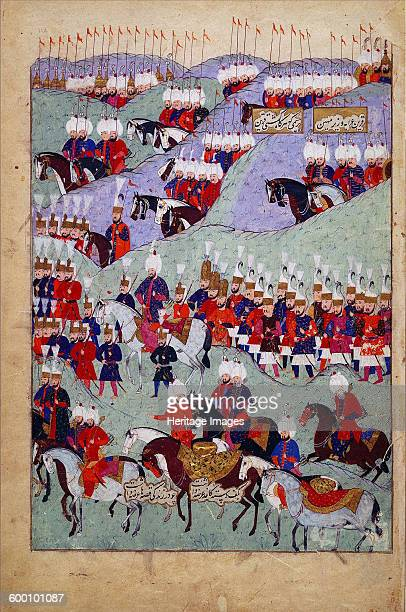 Funeral of Sultan Suleyman the Magnificent 1579 Found in the collection of Chester Beatty Library Dublin Artist Anonymous
