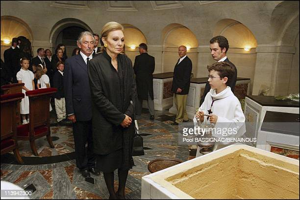 Funeral of the Countess of Paris in the Royal Chapel of Dreux France On July 11 2003Farah Dibah Michel de Grece