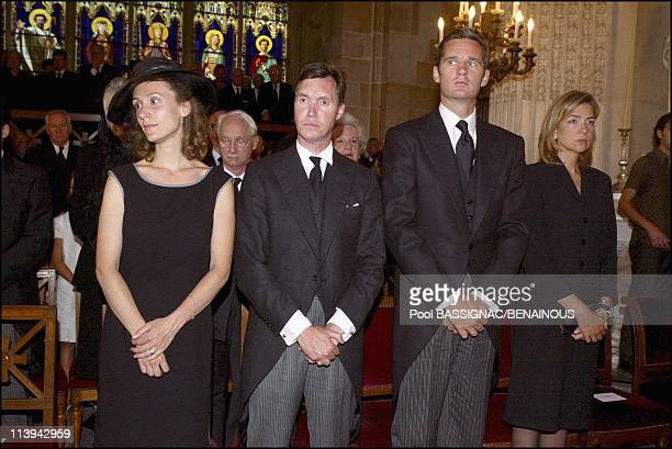 Funeral of the Countess of Paris in the Royal Chapel of Dreux, France On July 11, 2003-Guillaume of Luxemburg and wife Sibilla, Inaki Urdangarin and...