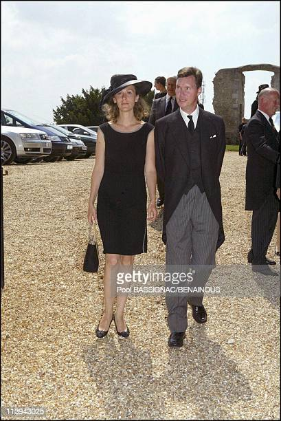 Funeral of the Countess of Paris in the Royal Chapel of Dreux, France On July 11, 2003-Guillaume of Luxemburg and wife Sibilla