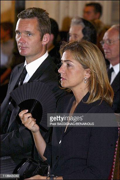 Funeral of the Countess of Paris in the Royal Chapel of Dreux France On July 11 2003Inaki Urdangarin and wife Infanta Cristina