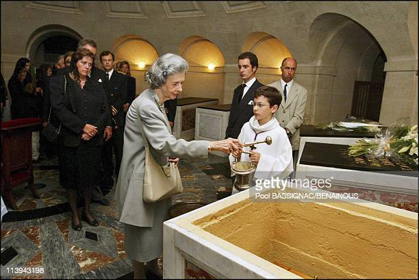 Funeral of the Countess of Paris in the Royal Chapel of Dreux France On July 11 2003Queen Fabiola of Belgium