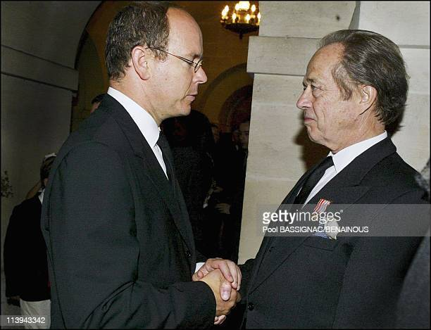 Funeral of the Countess of Paris in the Royal Chapel of Dreux France On July 11 2003Prince Albert and Count of Paris