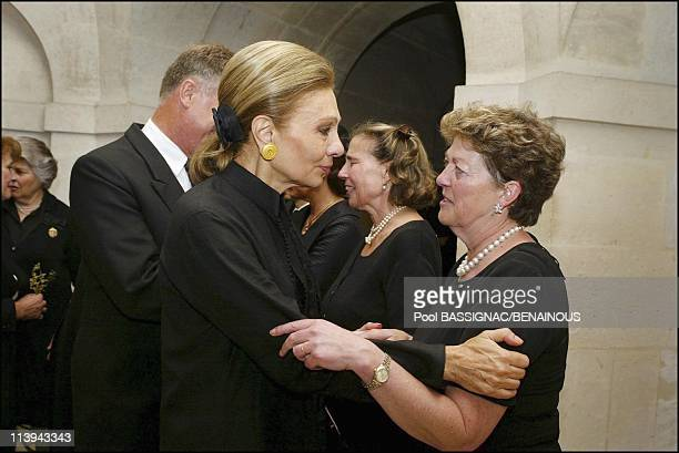 Funeral of the Countess of Paris in the Royal Chapel of Dreux France On July 11 2003Farah Dibah Princess Chantal