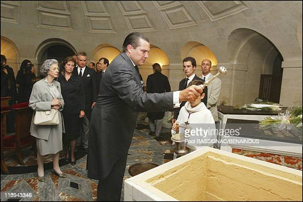 Funeral of the Countess of Paris in the Royal Chapel of Dreux France On July 11 2003Prince CharlesPhilippe of Orleans