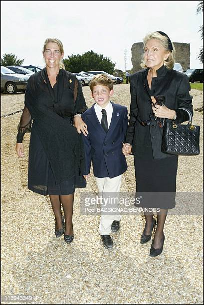Funeral of the Countess of Paris in the Royal Chapel of Dreux France On July 11 2003Princess Beatrice of Orleans and her daughter Princess Clotilde