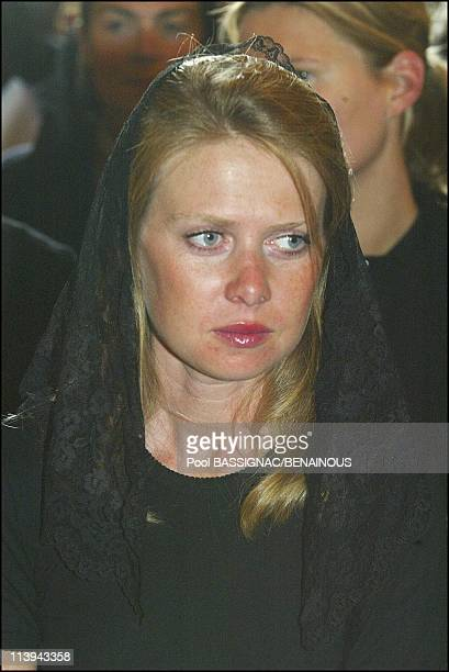 Funeral of the Countess of Paris in the Royal Chapel of Dreux France On July 11 2003Princess Diane of Orleans