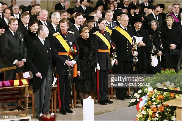 Funeral of the Grand Duchess Josephine Charlotte of Luxembourg in Luxembourg city Luxembourg on January 15 2005 Inside the church
