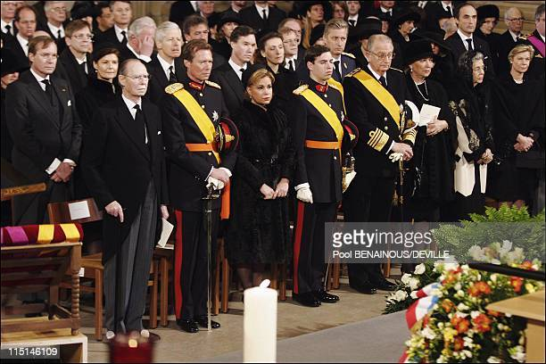 Funeral of the Grand Duchess Josephine Charlotte of Luxembourg in Luxembourg city Luxembourg on January 15 2005