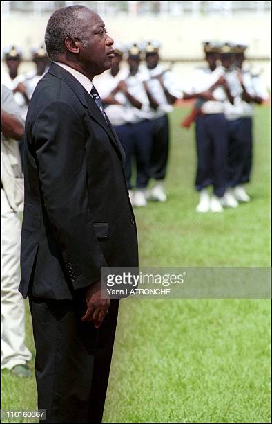 Funeral of the Martyrs of democracy in Abidjan Cote d'Ivoire on November 09 2000 President Laurent Bagboy