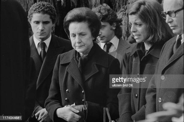 Funeral of Tina Niarchos Lausanne 1974